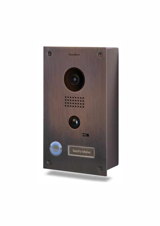 DOORBIRD Video Türstation D201B Bronze Aufputz Edition
